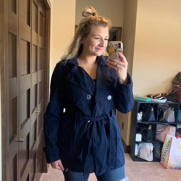 Jou Jou Jackets & Blazers - Jou Jou Navy Blue Pea Coat